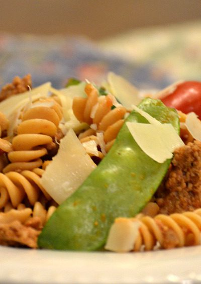 Oriental Pasta:  A 30-Minute Meal