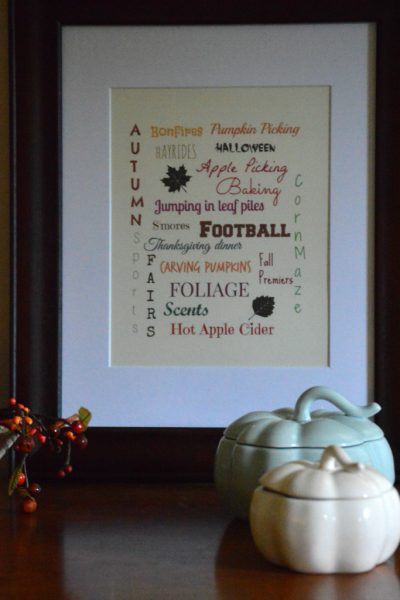 Fall Favorites With Printable