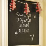 Christmas Chalkboard Art With Printable