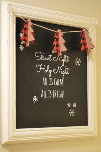 Christmas Chalkboard Art With Printable