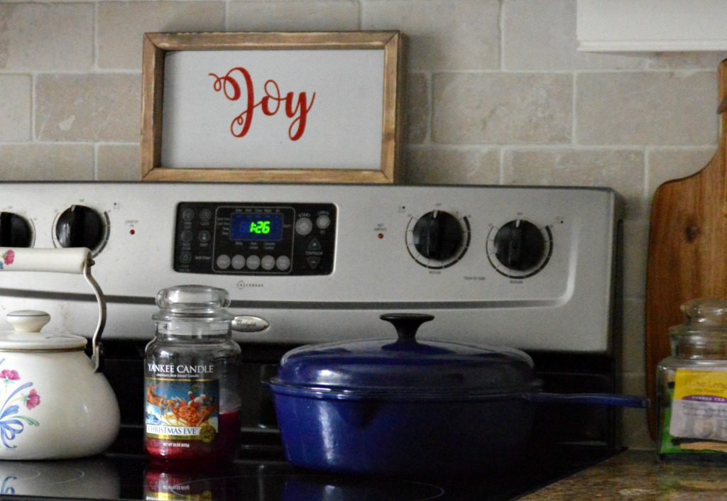 Christmas kitchen joy sign