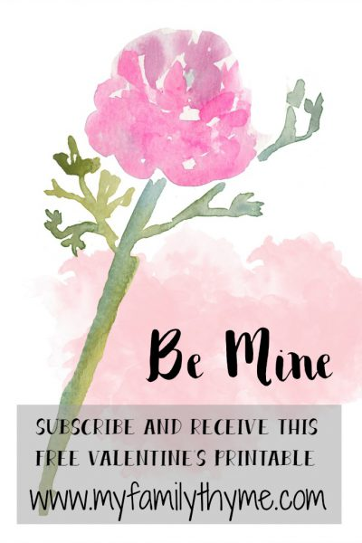 Subscribe and Get This Free Valentine's Day Printable