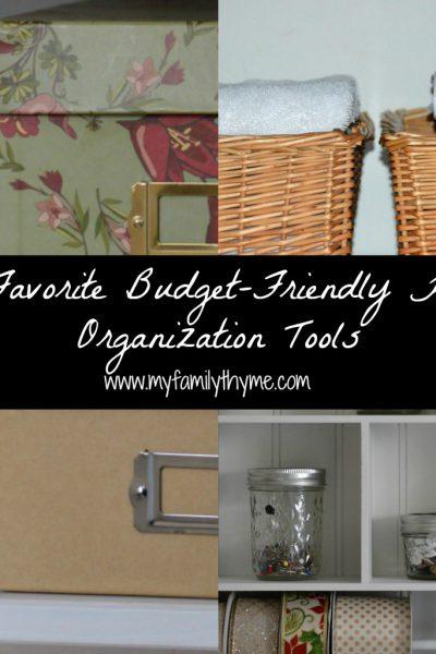 5 Favorite Budget-Friendly Home Organization Tools
