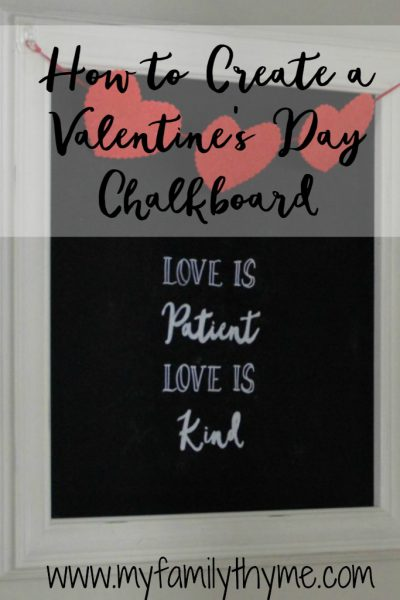 How to Create a Valentine's Day Chalkboard