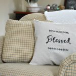 An Easy DIY:  A Farmhouse Pillow Cover for under $5