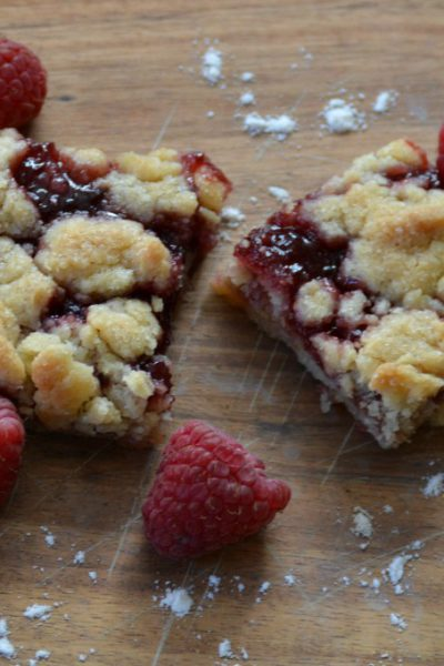 Fabulous Five Ingredient Raspberry Bars