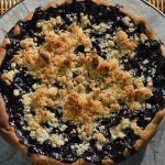 The Most Amazing Blueberry Crumb Pie