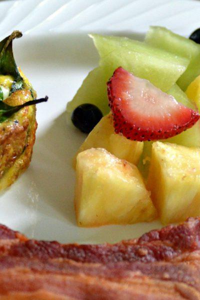 Spinach, Feta, and Tomato Egg Muffins