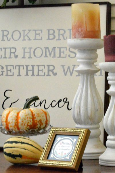 4 Simple Steps to Creating a Fall Vignette on a Budget