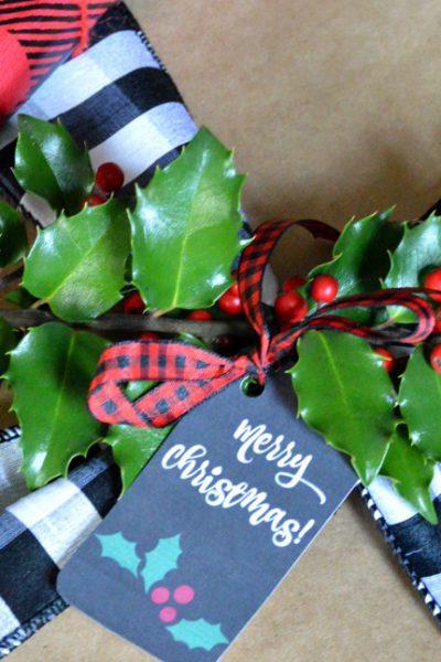 Farmhouse Christmas Gift Wrap
