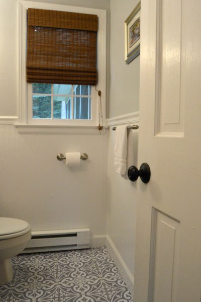 How to Install Bead board Wallpaper in the Bathroom