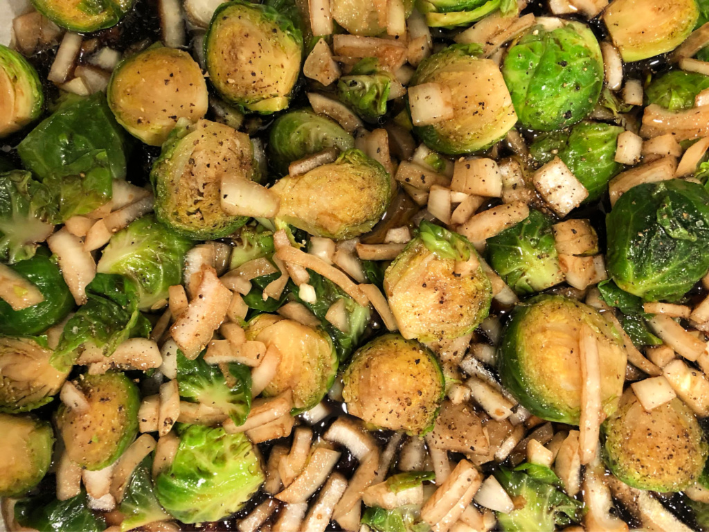 Oven-Roasted Brussel Sprouts