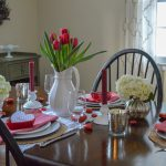 Red and White Valentine's Day Table