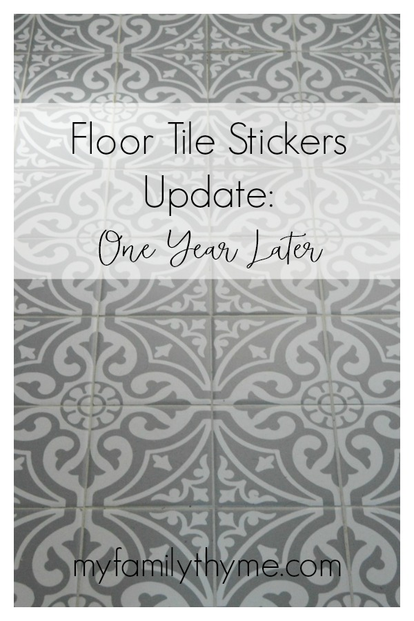 Floor Tile Stickers Update:  One Year Later