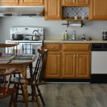 Contemporary Coastal Kitchen Update:  Adding a new paint color and flooring too!