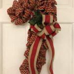 Candy Cane Burlap Christmas Wreath