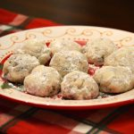 Chocolate Mint Snowball Cookies