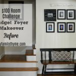 $100 Room Challenge: Budget Foyer Makeover