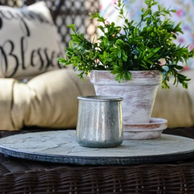 DIY Faux Mercury Glass Votive Holders