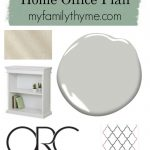 One Room Challenge Home Office Plan