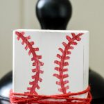 DIY Baseball Block Style Picture Holder