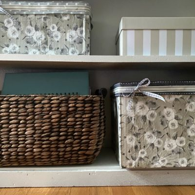 DIY Decoupage File Folder Organizers