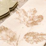 Leaf Stamped Tea Towels