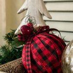 Ribbon Wrapped Christmas Ornament