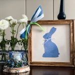 Easter Bunny Reverse Canvas