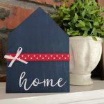 DIY Patriotic Mini Wood Home Sign
