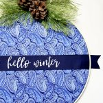 Easy DIY Embroidery Hoop Wreath With Fabric