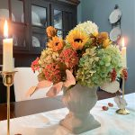 Make a Fall Centerpiece Mixing Fresh and Faux Flowers